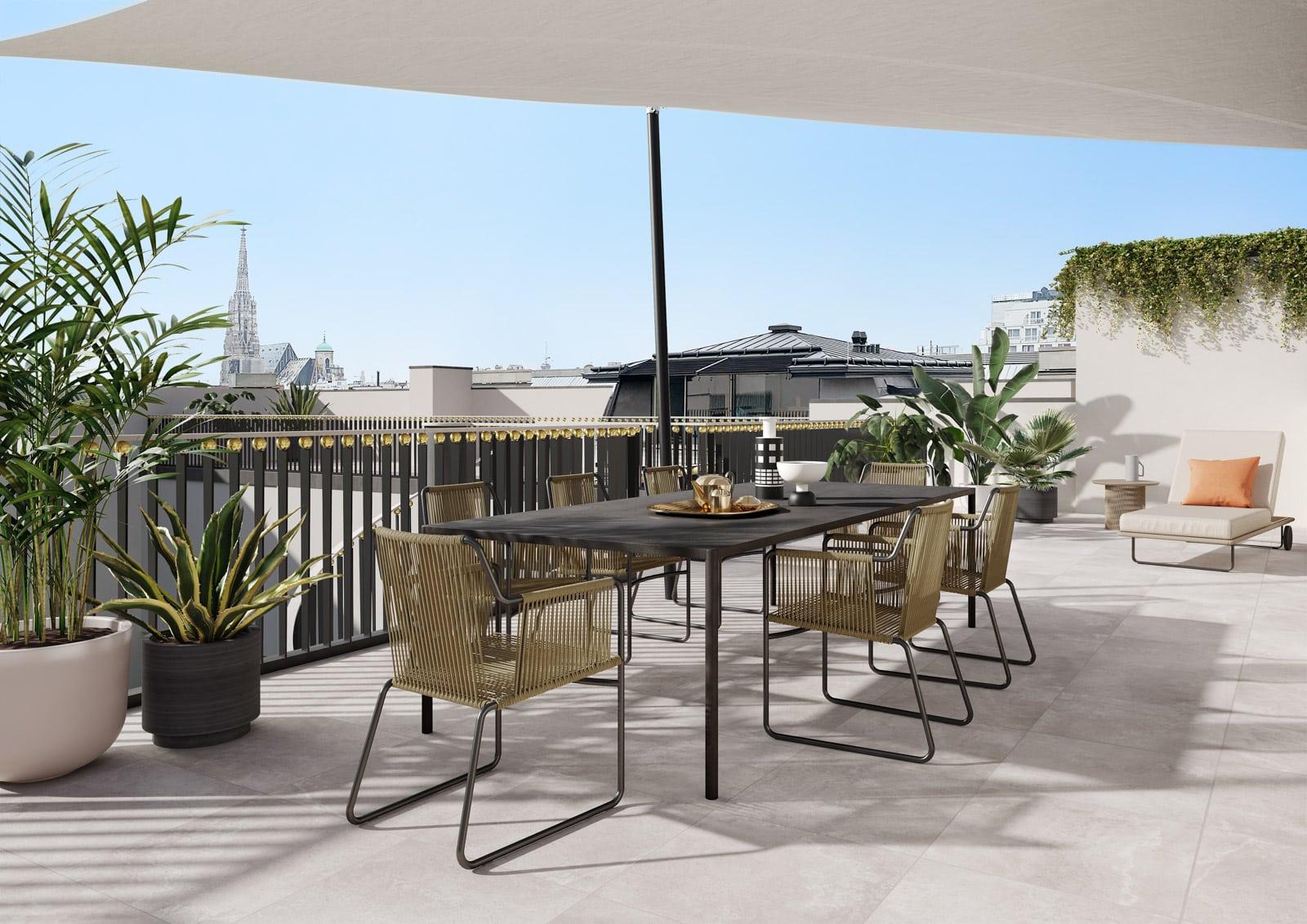 Traumhafte Terrasse in den Almanac Residenzen, Parkring 14