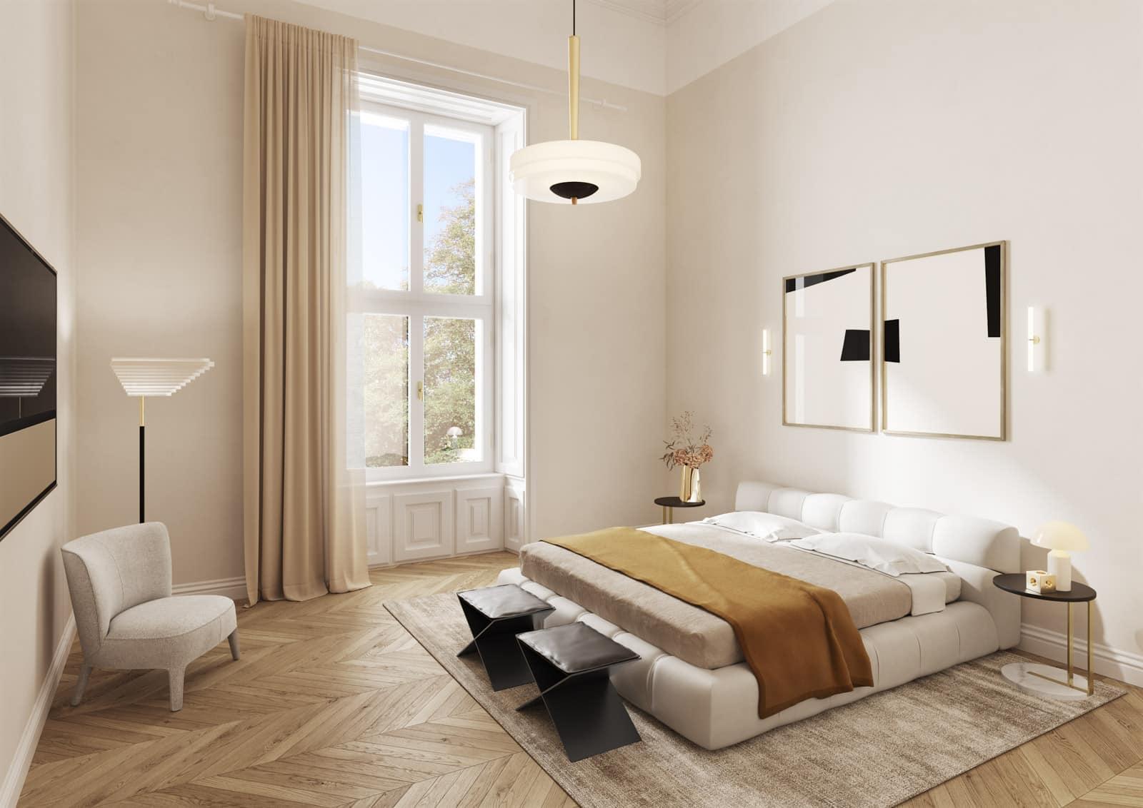 Luxus Schlafzimmer in Alamanac Residenzen Parkring 14
