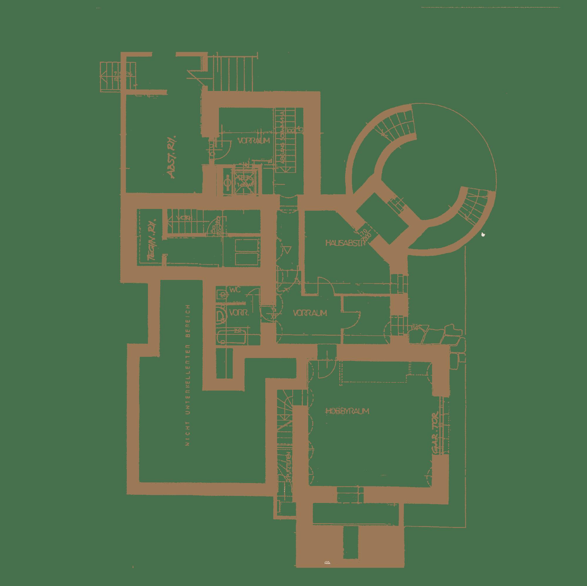 Kellergeschoss in Villa in Baden