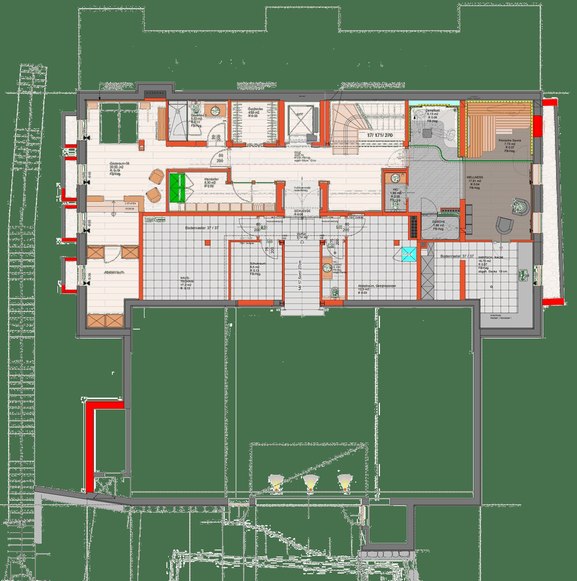 Grundriss Erdgeschoss Chalet am Lutzenberg