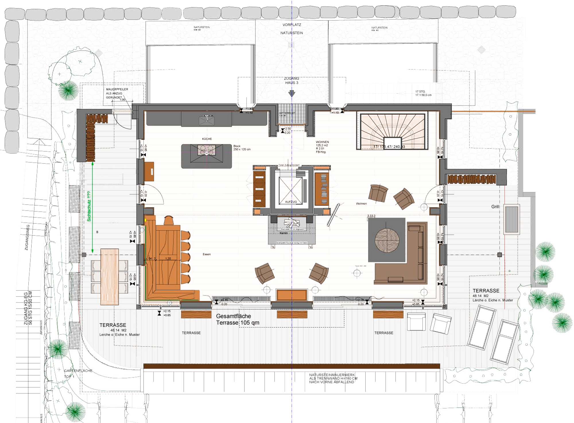 Grundriss 2. Obergeschoss Chalet am Lutzenberg