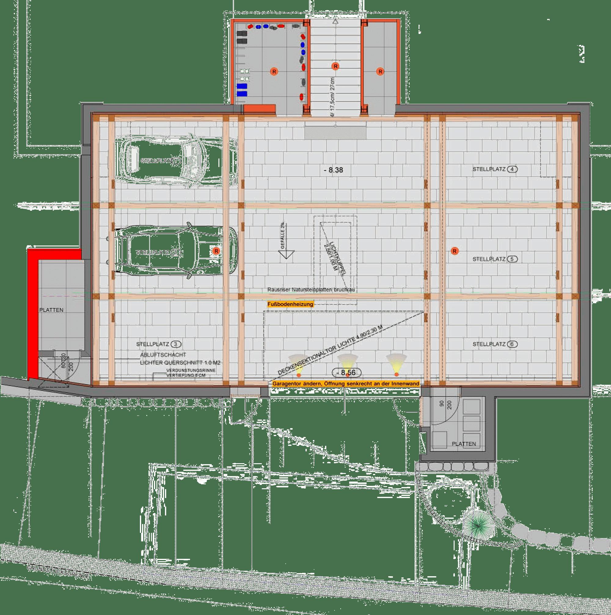 Grundriss Untergeschoss Chalet am Lutzenberg
